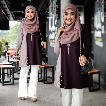 Saffa Blouse - Mulberry