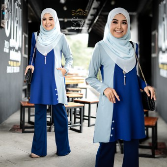 Saffa Blouse - Royal Sea Blue